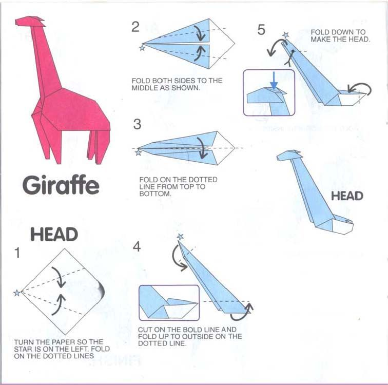 Origami Hummingbird Diagram Instructions Wiring For Brake Controller Giraffe Great Installation Of Deer 2 Maybe Similar To The Cow This Rh Pinterest Com Complex Diagrams