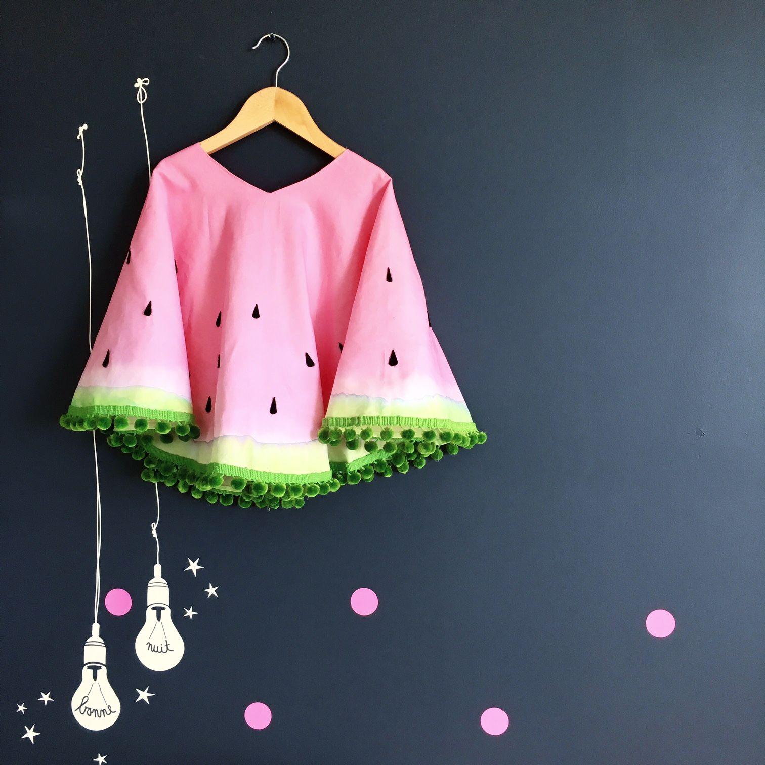 Watermelon Costume - simple DIY watermelon costume for kids | Sandía ...