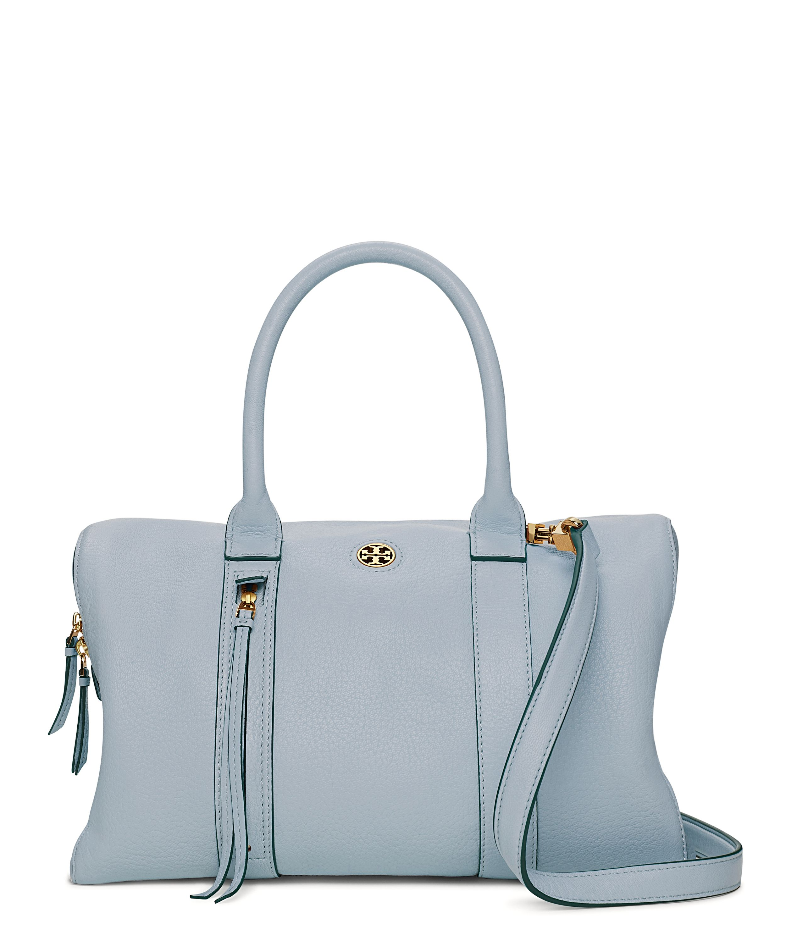 4e9928d0900 The Parker Leather Tote. Tory Burch Blue Cloud Brody Small Satchel