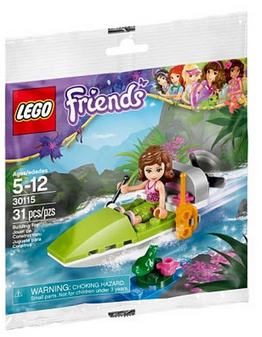 Jungle NEW Lego Friends Olivia/'s Jungle Boat 30115 Polybag set