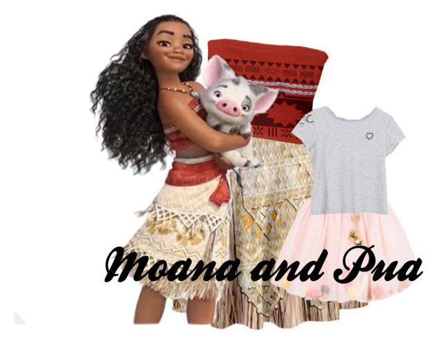 """""""Moana and Pua!!!"""" by sunnbunn ❤ liked on Polyvore featuring Billieblush and Little Marc Jacobs"""