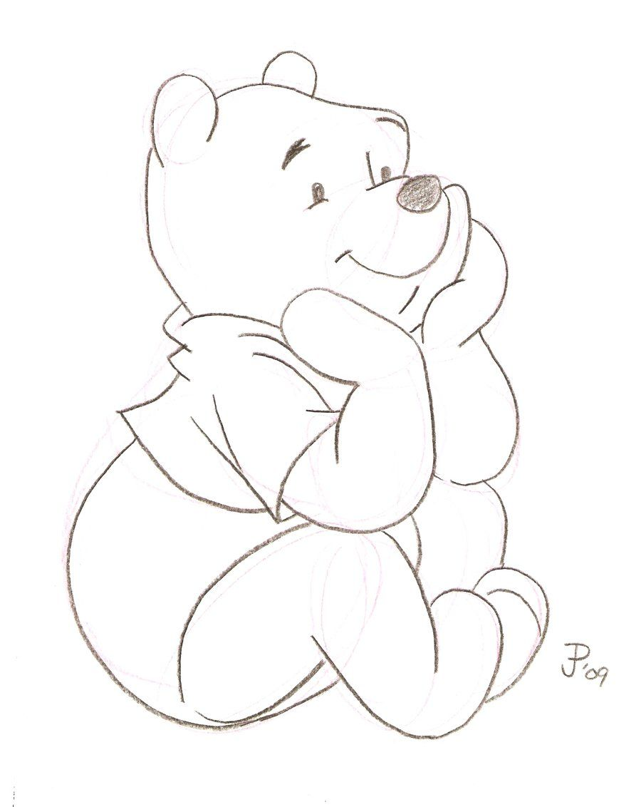 cartoon sketches winnie the pooh sketch by mickeyminnie on