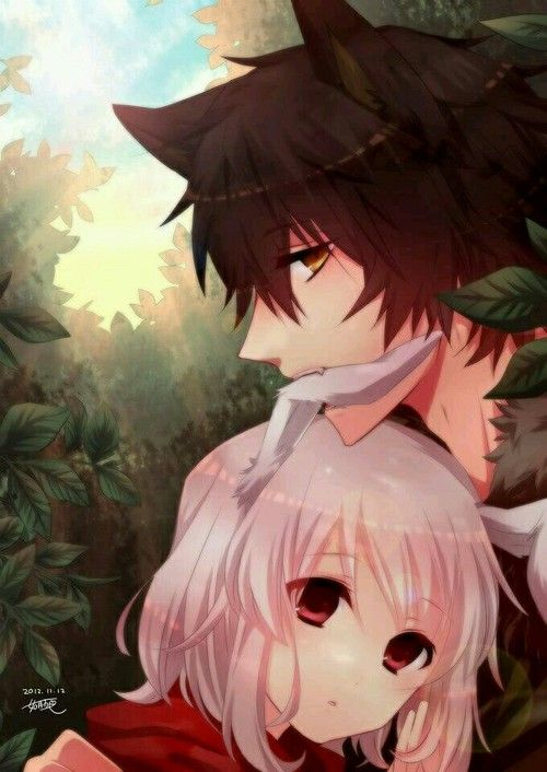 Bunny And Wolf Anime Fox Boy Anime Wolf Girl Wolf Boy Anime