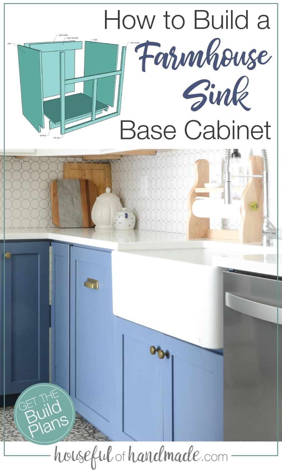 How To Build A Farmhouse Sink Base Cabinet In 2020 Building Kitchen Cabinets Farmhouse Sink Farmhouse Sink Kitchen