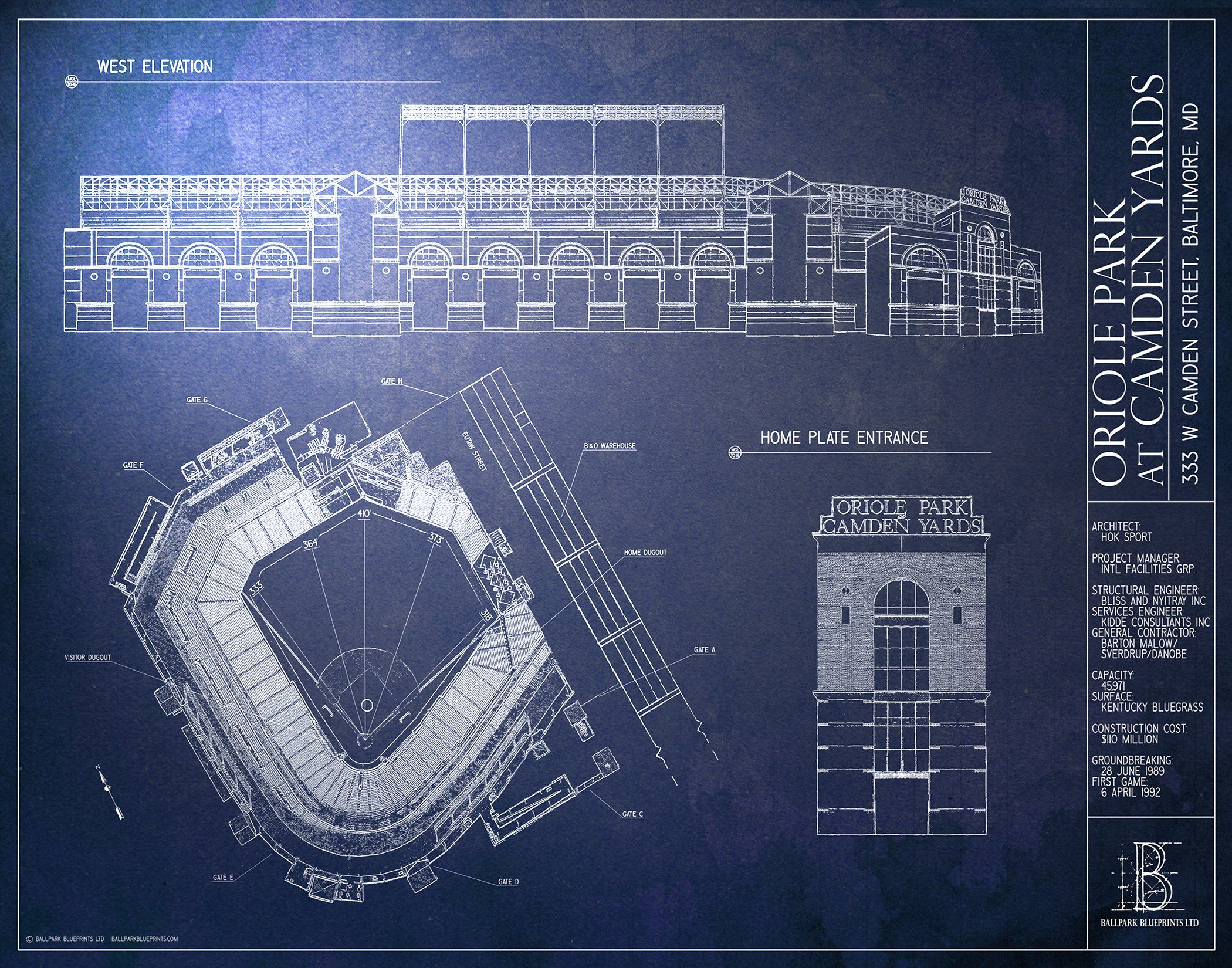 Camden yards blueprint design your wall wallpaper project new camden yards blueprint design your wall wallpaper malvernweather Choice Image