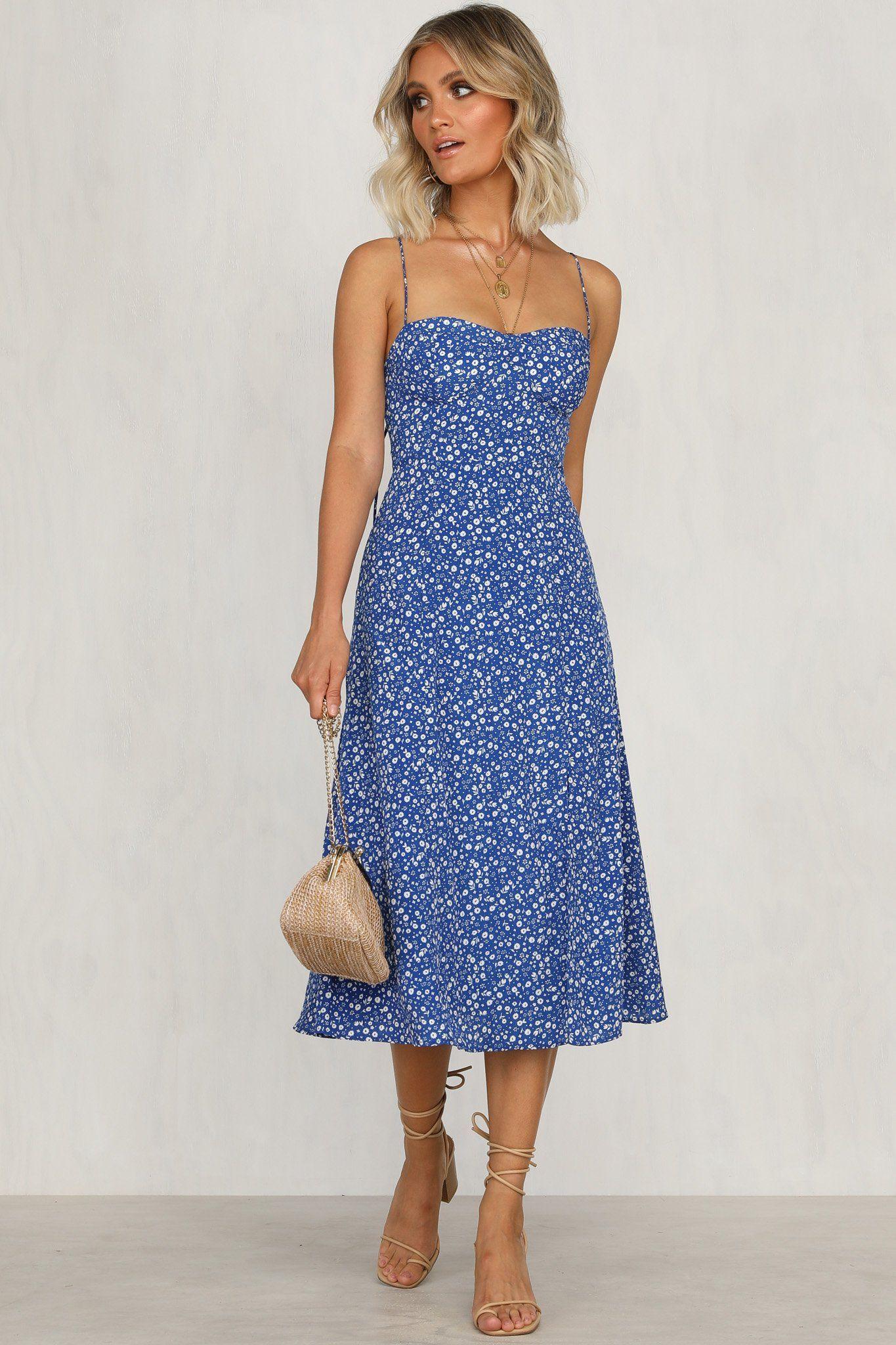 Summer Sun Dress Blue Floral Runwayscout Sun Dress Casual Summer Dresses Sundresses Blue Dress Casual [ 2048 x 1365 Pixel ]