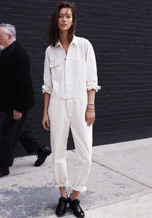 1c33b1a54a56 Le Fashion Blog 5 Ways To Wear A White Jumpsuit Alana Zimmer Model Off Duty  Street Style Via Madewell 4 photo Le-Fashion-Blog-5-Ways-To-Wear.