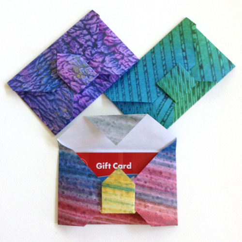 studio snapshot  diy gift card origami envelope  origami
