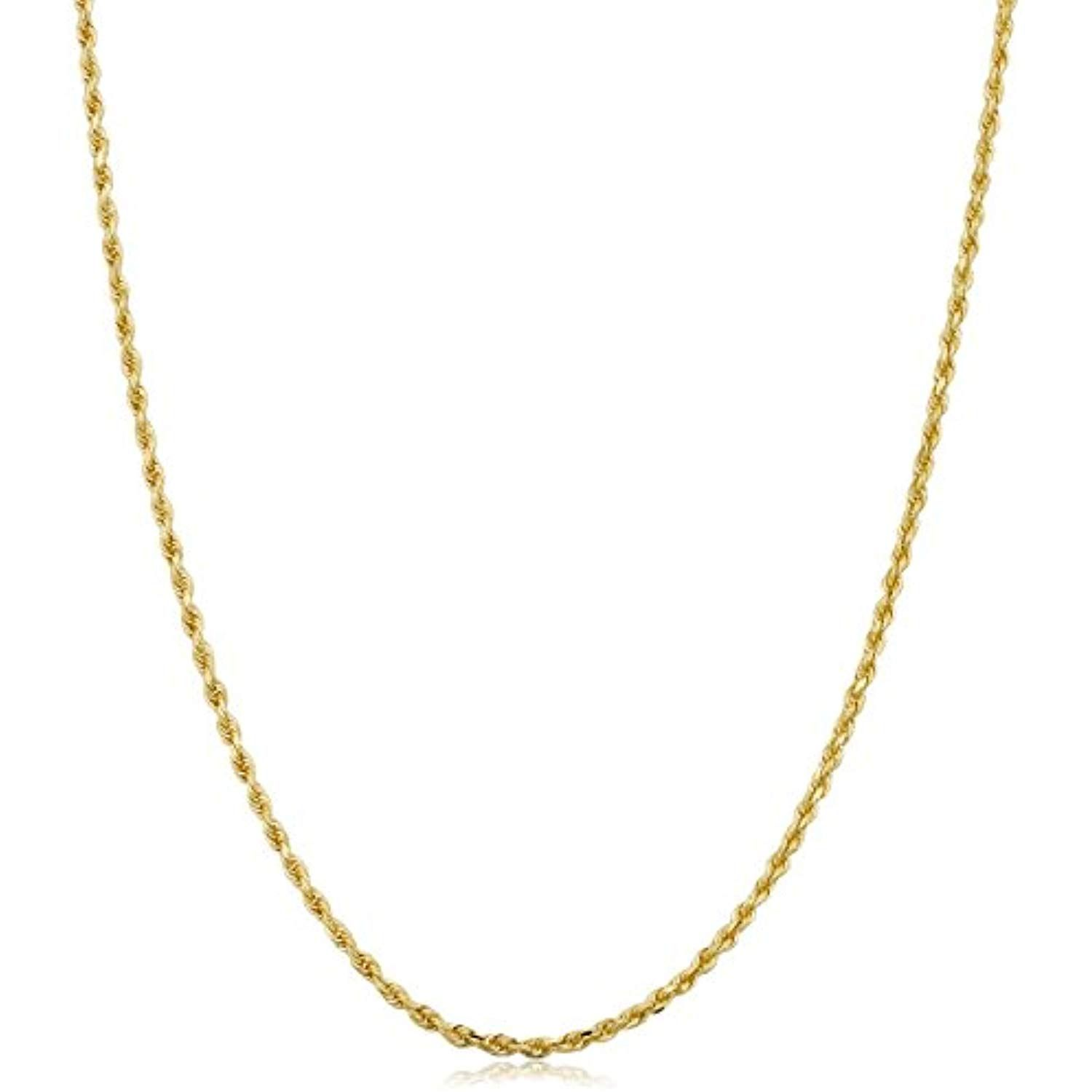 14k Yellow Gold Solid 1 5mm Rope Chain Necklace Read More At The Image Link This Is An Beautiful Gold Chain Gold Necklace Sterling Silver Necklace Diamond