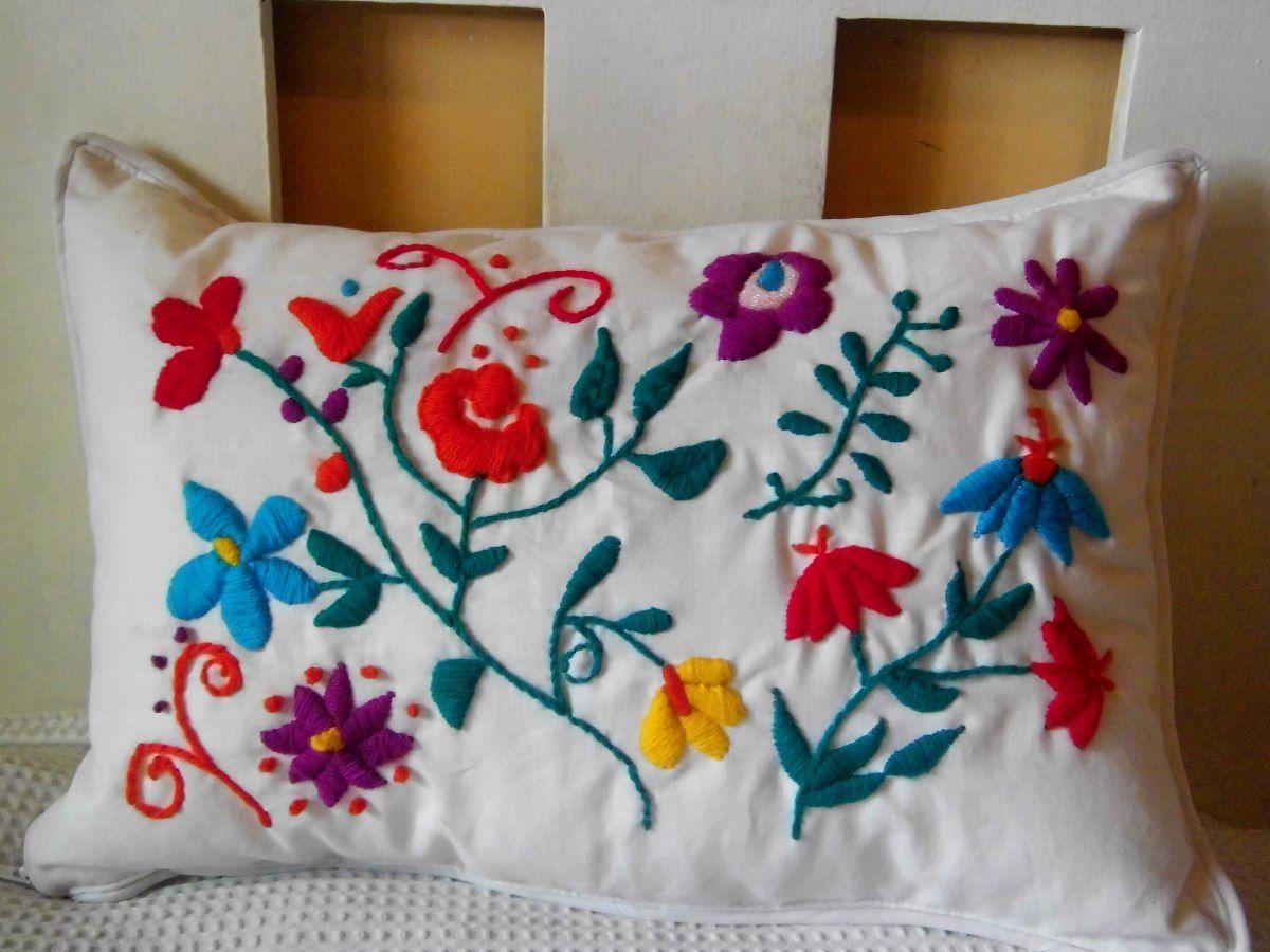 como hacer bordado mexicano Buscar con Google | Almohadas