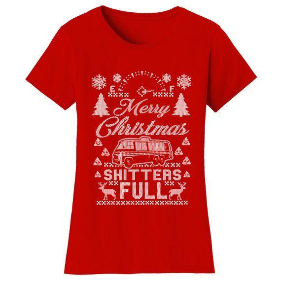 Women\u0027s Merry Christmas Shitters Full Ugly Christmas Sweater T
