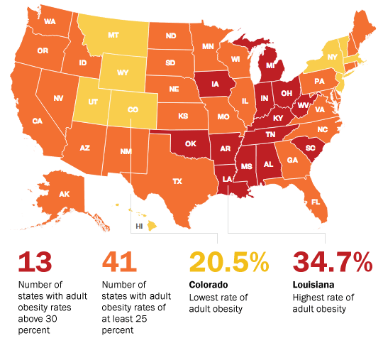 F As In Fat Obesity Data Trends And Policy Analysis Adult - Obesity map us
