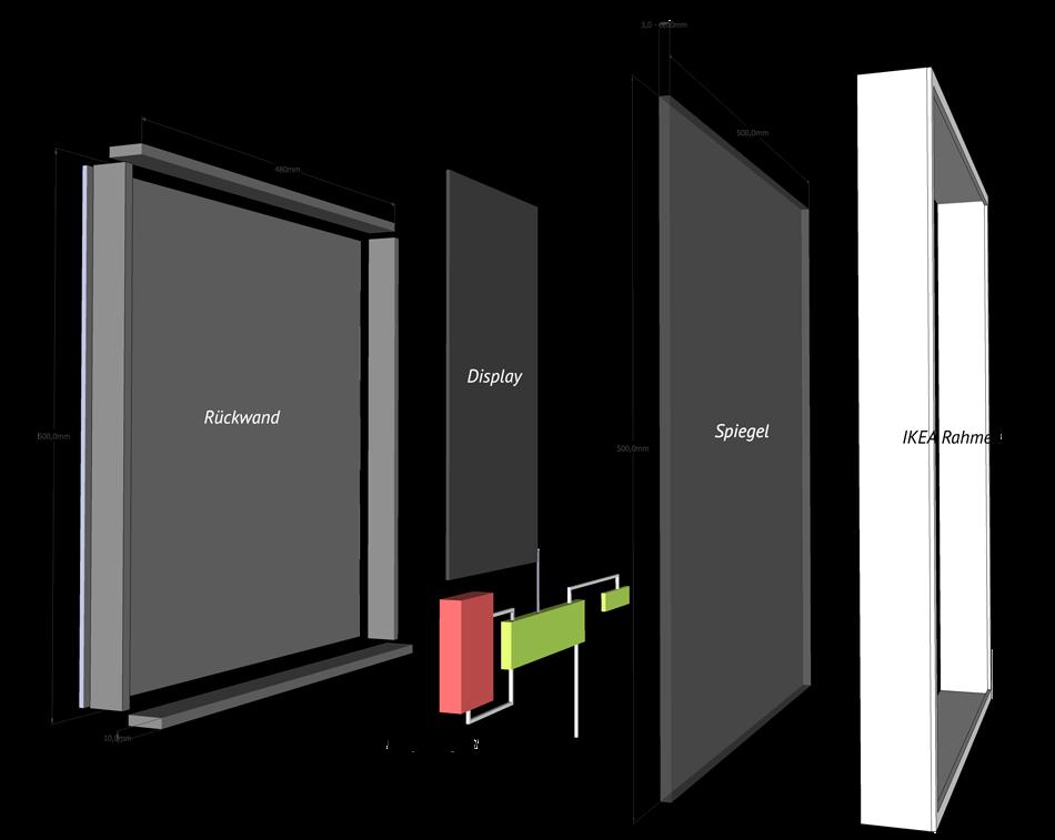 Spiegel Selber Bauen smart mirror selbst bauen robotics raspberry