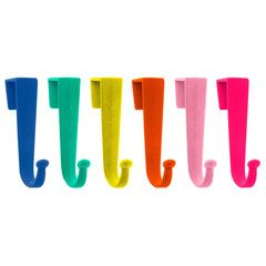 Charmant Hooks . 6 Over Door Hooks   Bright Colours