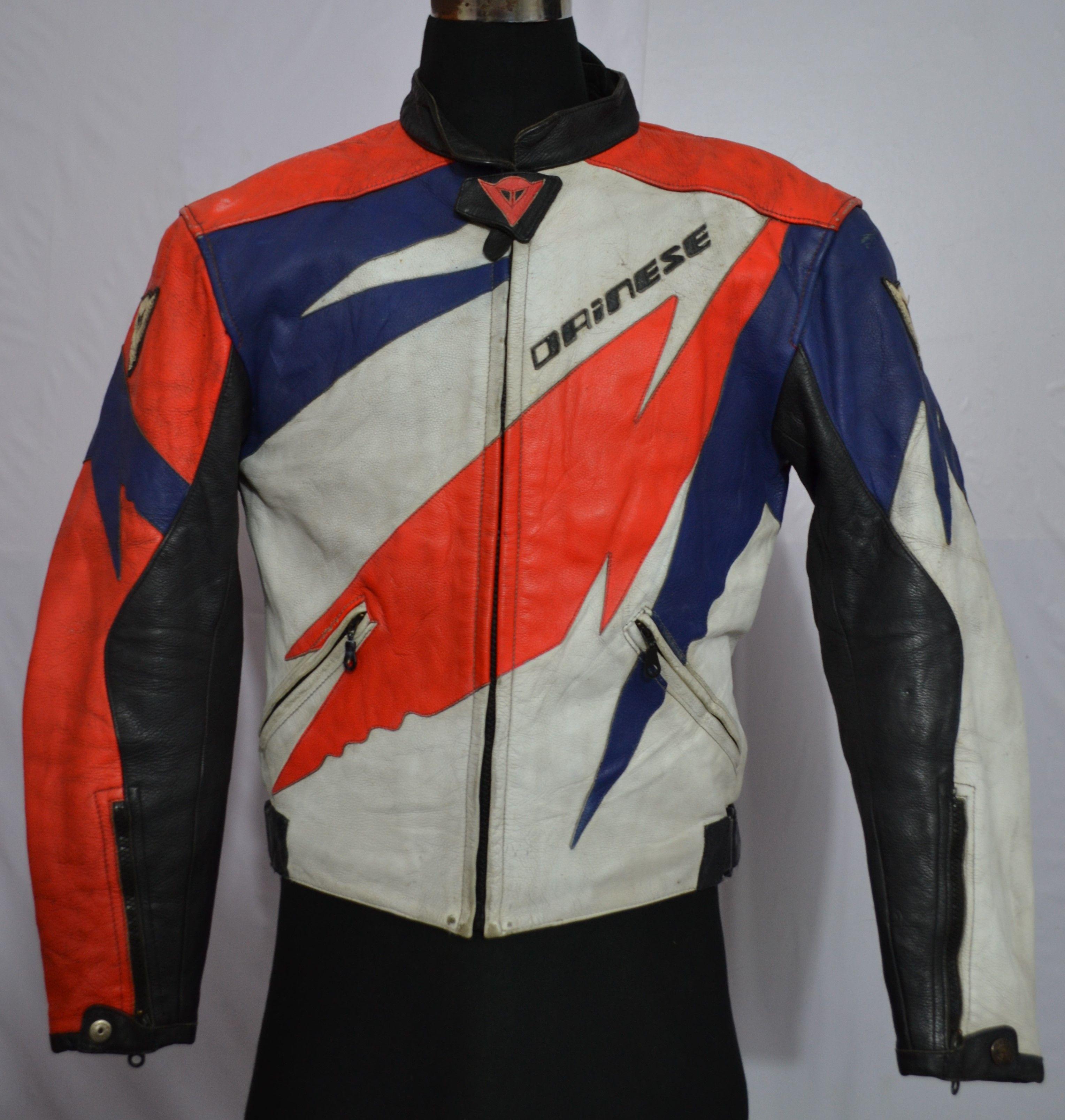 Dainese Motorbike Leather Jacket (Vintage Brands Guru
