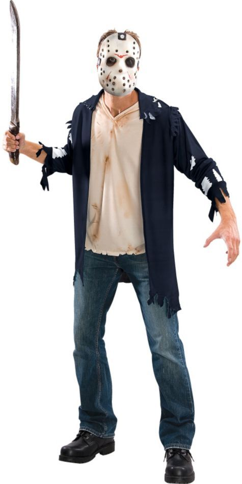Friday The 13th Jason Costume For Adults Party City Jason Voorhees Costume Halloween Costumes Women Mens Halloween Costumes