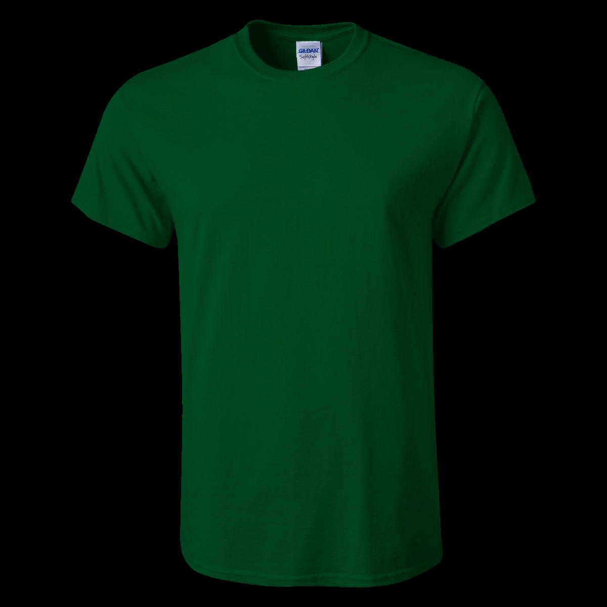Gildan Softstyle T Shirt Dk Green S Kaos T Shirt Hijau