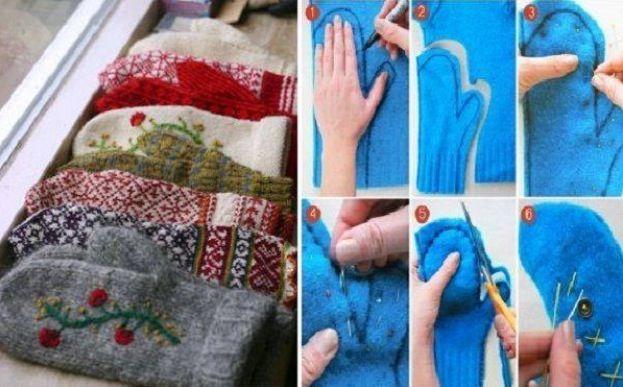 DIY mittens