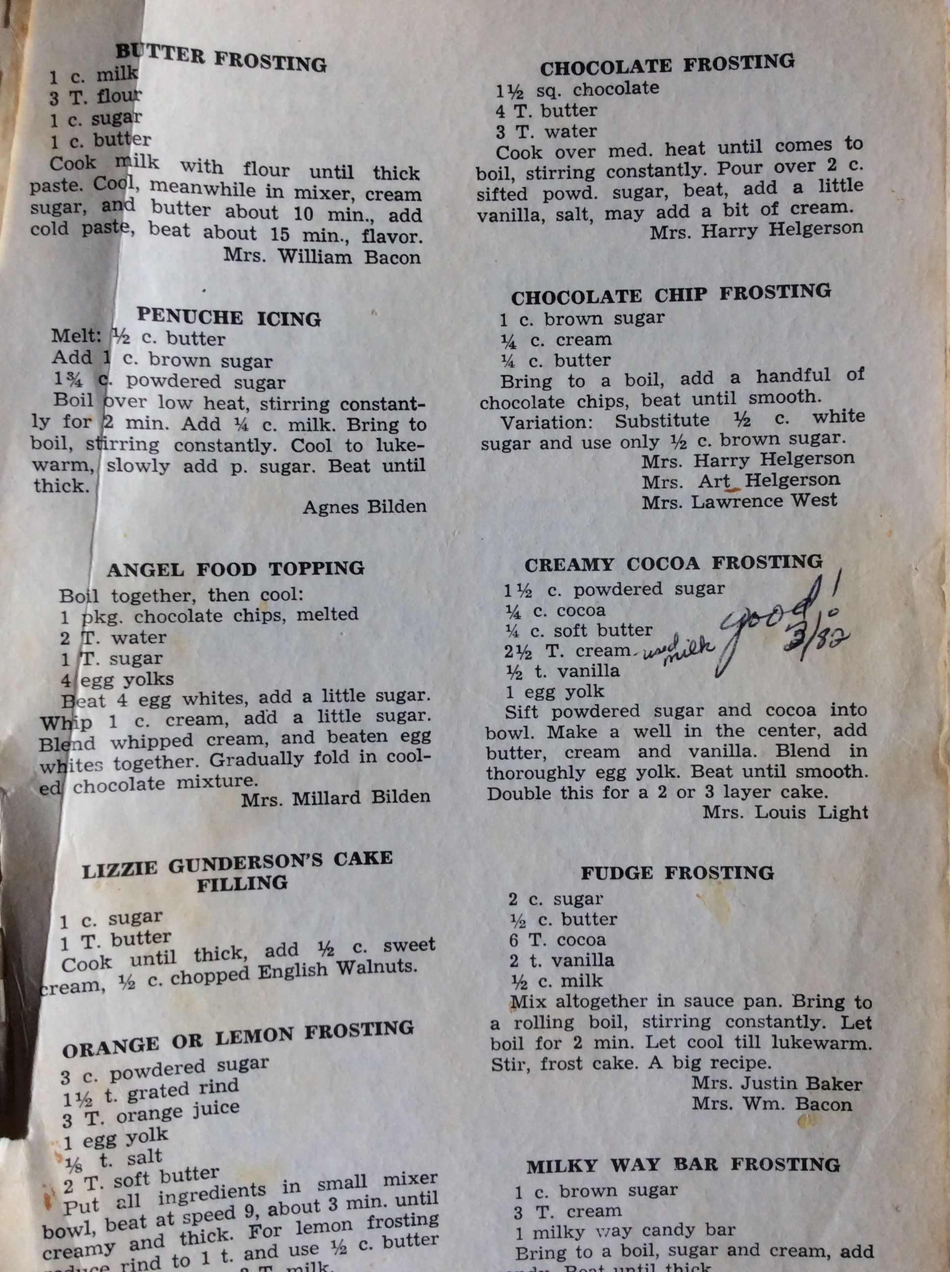 Frostings ala 1940 No Butter Frosting Recipe, Icing Frosting, Icing Recipe, Cake Icing, Frosting Recipes, Bakery Recipes, Retro Recipes, Vintage Recipes, Cookie Recipes #icingfrosting