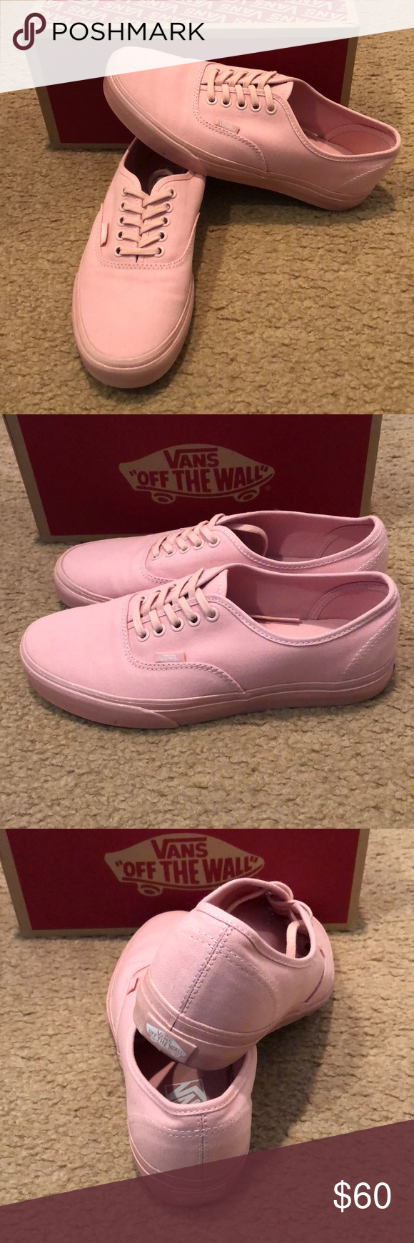 e5b957577a65 Metallic Glitter Authentic Lo Pro Vans New in box. Silver pink Vans Shoes  Sneakers