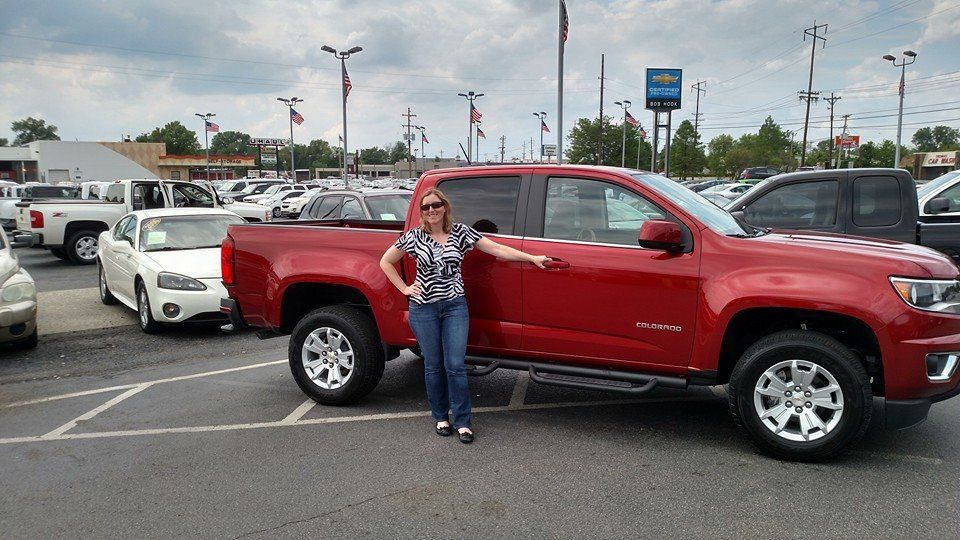 Helen and her NEW 2015 Chevrolet Colorado from Bob Hook
