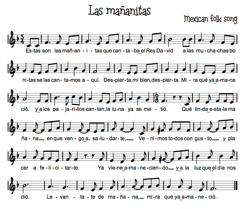 All Music Chords las mananitas trumpet sheet music : Resultado de imagen para notas musicales CANCION ESTAS SON LAS ...