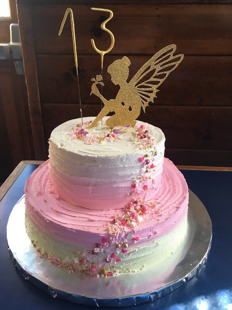 Fairy Garden Cake Toppers Enchanted Garden Picks Fairy ...