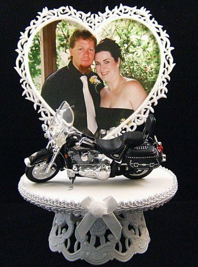 harley cake topper with picture terry really likes this one but he wants a pic of