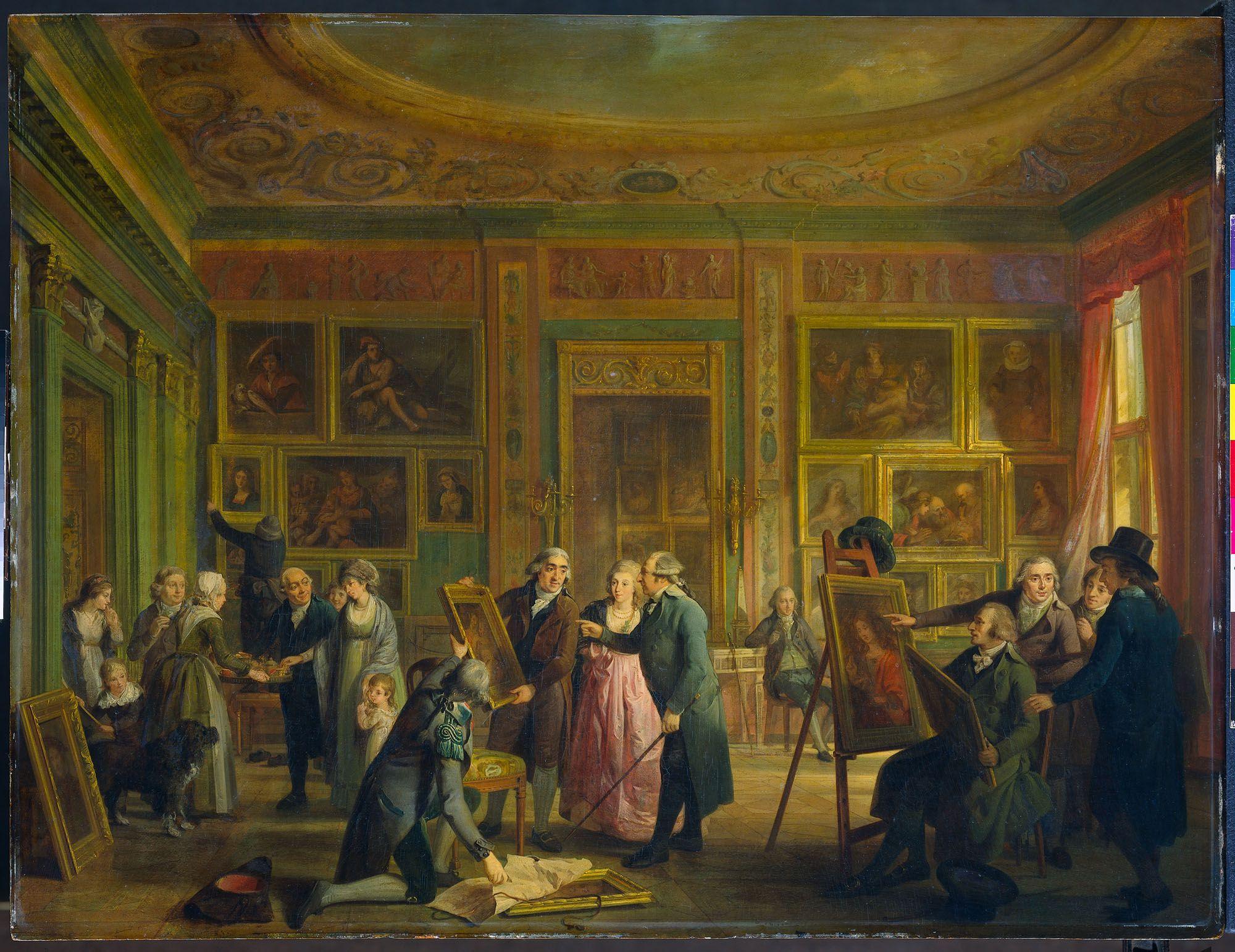 Adriaan de Lelie -  La Galleria d'Arte di Giuseppe Agostino Brentano nella sua casa sul Herengracht, Amsterdam, 1800