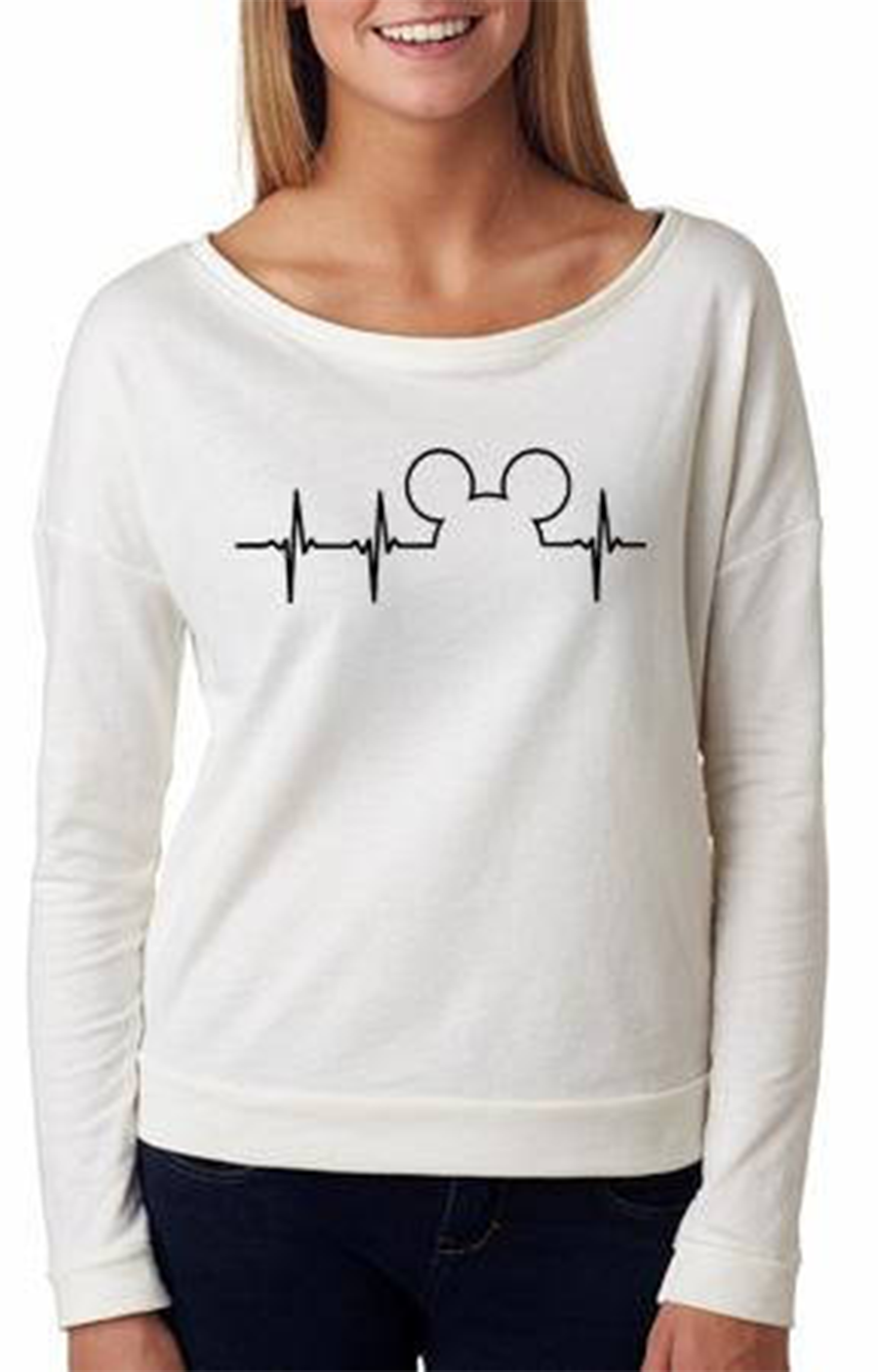 5b9ab418771 French Terry Scoopneck Longsleeve Tee