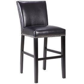 Picture Of Addison Studded Barstool 24 In Bar Stools Bar Height Stools Counter Height Bar Stools