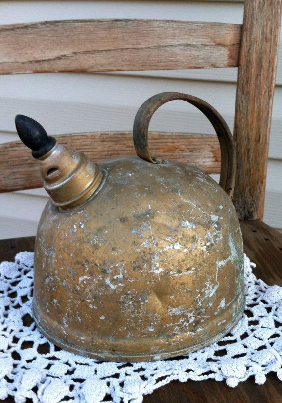 Vintage Aluminum Tea Kettle $8