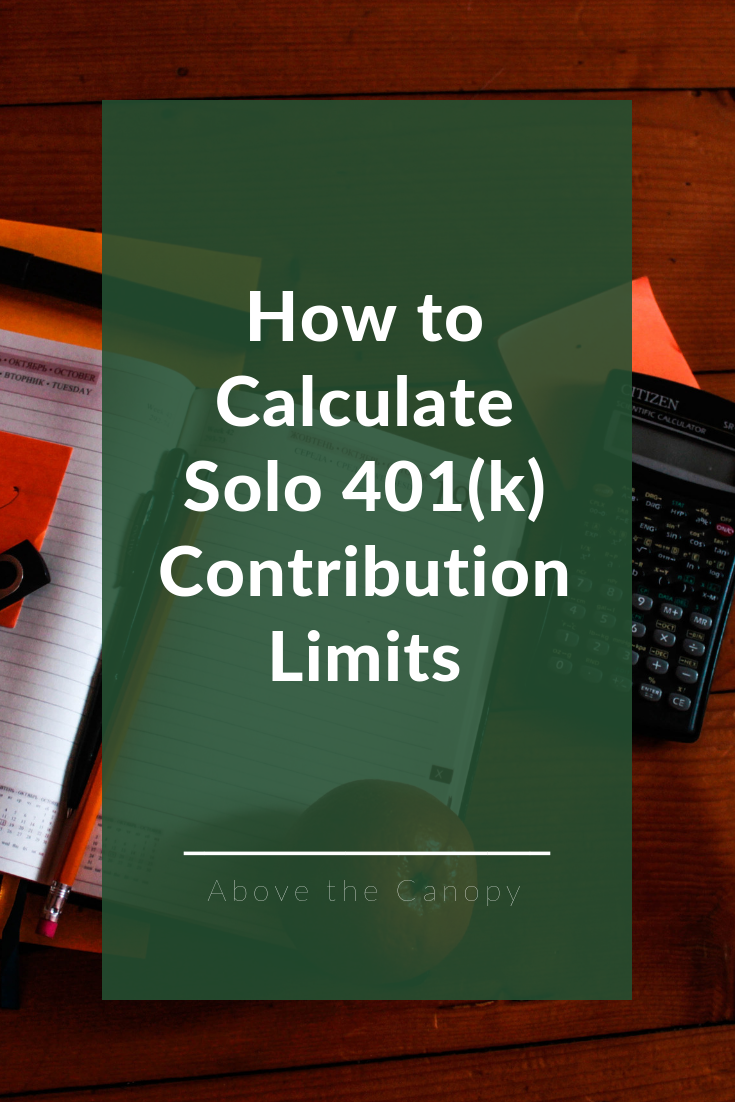 How To Calculate Solo 401k Contribution Limits Above The Canopy How To Plan Retirement Planning 401k