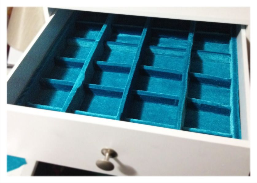 Diy Velvet Lined Drawer Dividers In A Customized Jewelry Box