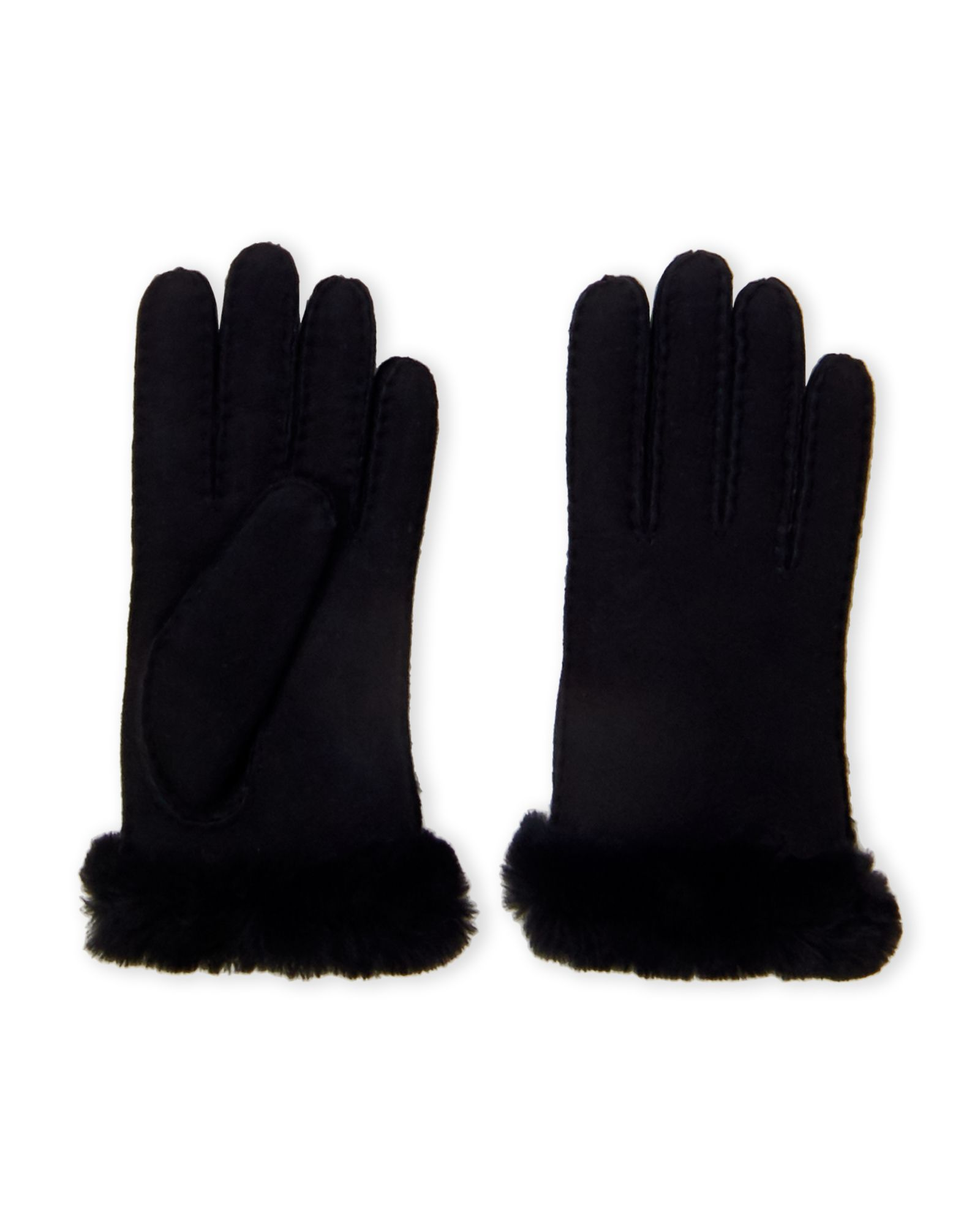 Carter Real Shearling Fur Cuff Leather Gloves | *Apparel