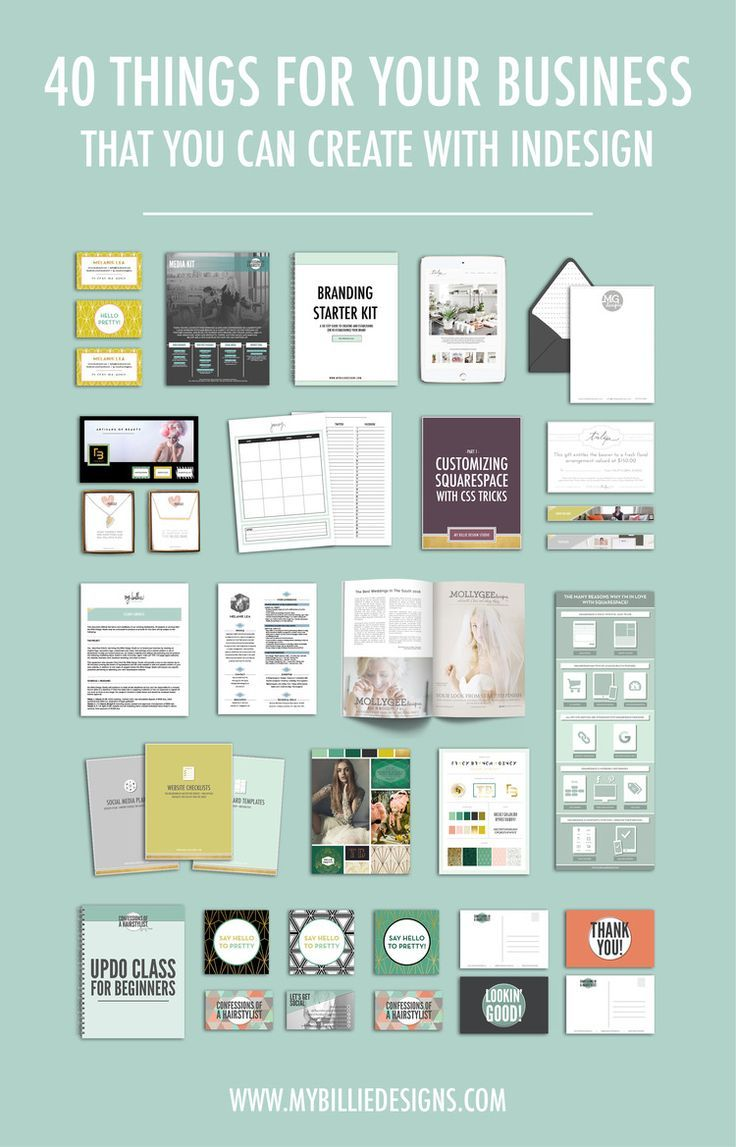 40 Things You Can Create For Your Business With Indesign My Billie Designs Indesign Tutorials Graphic Design Tips Design Tutorials