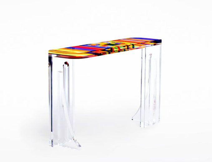 Console in plexiglas 'Sgambetto' 1350x300h850mm | Foyer | Pinterest on