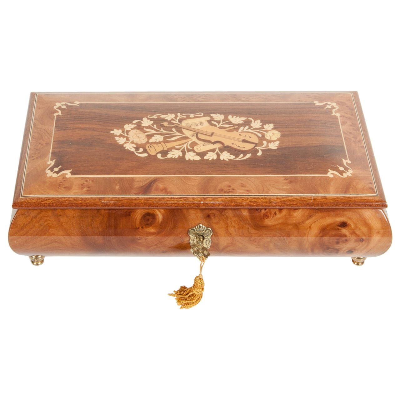 Antique Jewelry Box | From a unique collection of antique and modern boxes at https://www.1stdibs.com/furniture/decorative-objects/boxes/