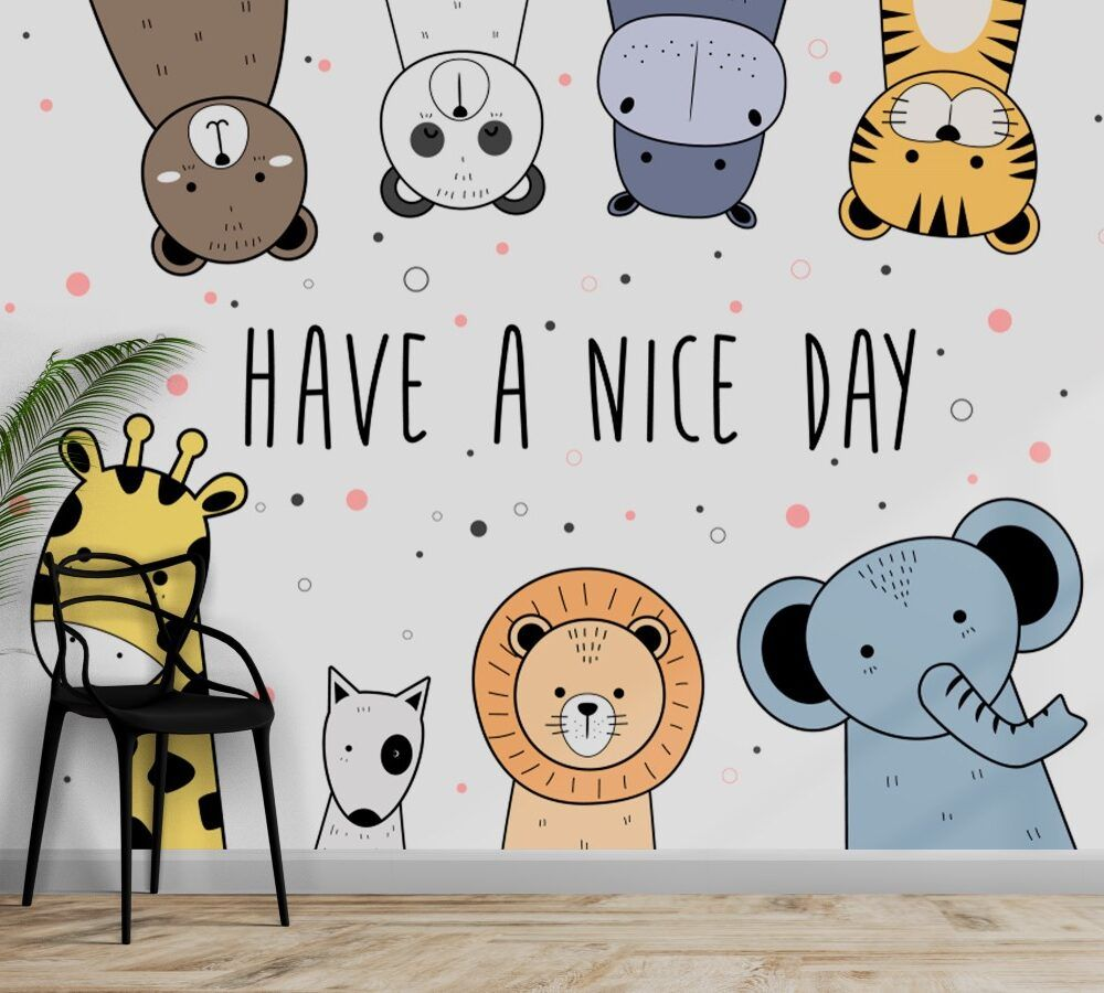 Adorable Teddy Bear Animals Have A Nice Day Wallpaper In 2021 Cartoon Animals Cartoon Drawings Of Animals Cute Animal Illustration