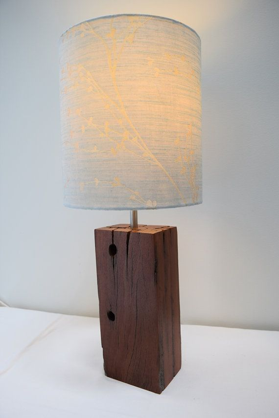 Iron Bark Wood Lamp Base Handmade From Reclaimed Timber For Table Desk Or Bedside Wood Lamp Base Wood Lamps Wood Diy