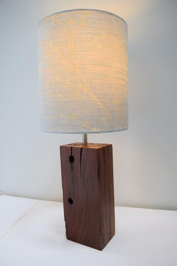 Iron Bark Wood Lamp Base Handmade From Reclaimed By FieldingsFinds