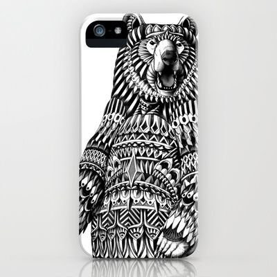 Ornate Grizzly Bear iPhone & iPod Case by BioWorkZ - $35.00