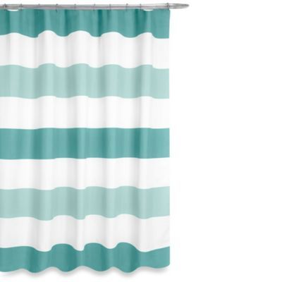 boca shower curtain in aqua | master bathroom shower, teal