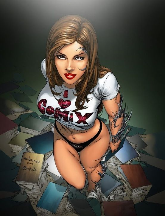 Comic book characters bad girls sex images