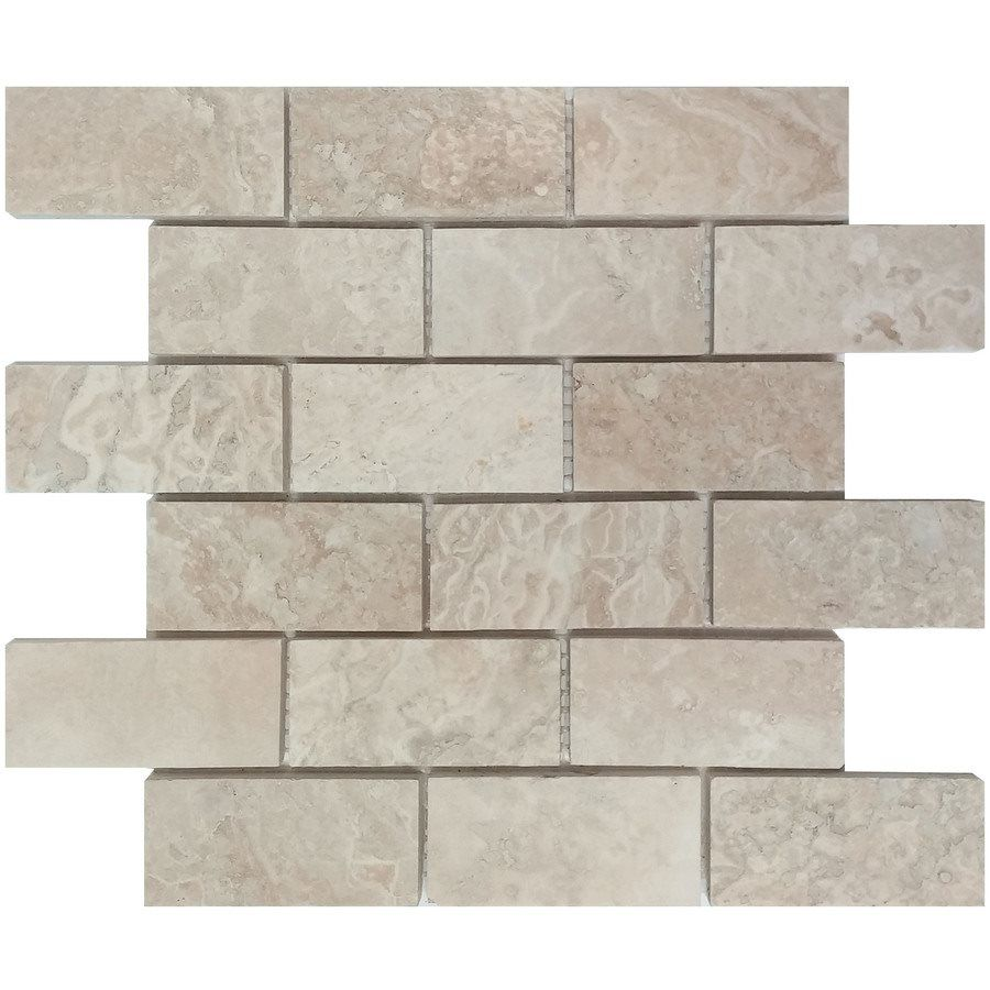 Shop avenzo 12 in x 12 in navona travertine mosaic floor and wall avenzo 12 in x 12 in navona travertine mosaic stone flooringflooring tilesmosaic dailygadgetfo Images