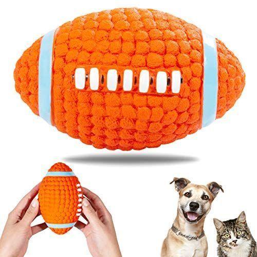 Aingycy Interactive Dog Toys Nontoxic Squeak Chew Ball Toy Durable