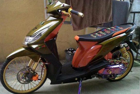 Modifikasi Honda Beat Standar Elegan Desain Pinterest Honda