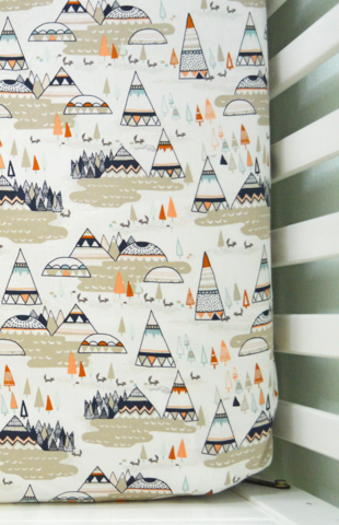 We Just Love This Modfox Tribal Mountains Fitted Cot Bed Sheet. Perfect  Modern Bedding For