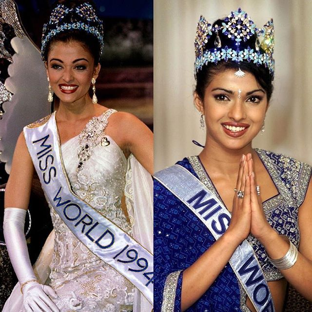 Miss World 1994 And Miss World 2000 And Happy Birthday Aishwarya Rai Aishwaryarai Priyankachopra Missworl Miss World 2000 Bollywood Celebrities Miss World