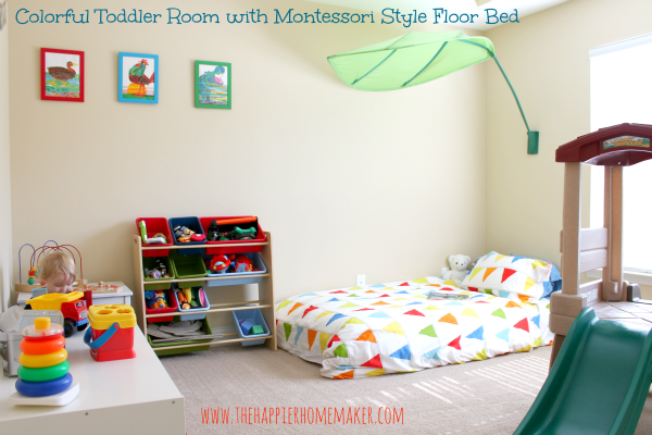 bright and colorful toddler nursery toddler room montessori toddler rooms montessori. Black Bedroom Furniture Sets. Home Design Ideas